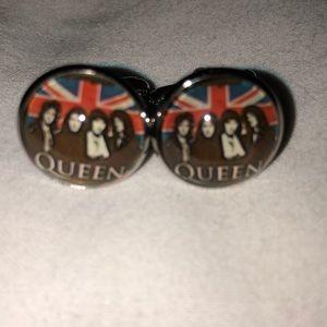 Queen rock band cufflinks Freddie Mercury
